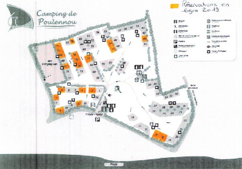 Plan des emplacements réservables